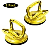 FCHO Glass Suction Cup Heavy Duty Aluminum Vacuum Plate Dent Puller Handle Holder Hooks Duty Galss Lifting/Floor Gap Fixer/Tile Suction Cup Lifter/Moving Glass/Pad for Lifting (2Pack)