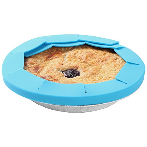 Adjustable Pie Crust Shield | For Rippled, Regular, or Rimmed Pie Dishes | By Trenton Gifts