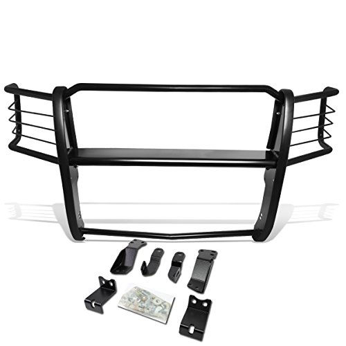 Headlight Brush Guard - DNA Motoring 1 Pack GRILL-G-073-BK Front Headlight/Grille Brush Guard [for 14-18 Chevy Silverado 1500]