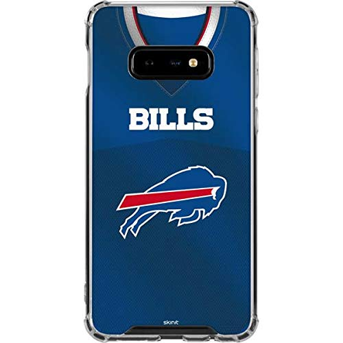 Skinit Buffalo Bills Team Jersey Galaxy S10e Clear Case - Officially Licensed NFL Phone Case Clear - Transparent Galaxy S10e - Blue Buffalo Bills Jersey Style