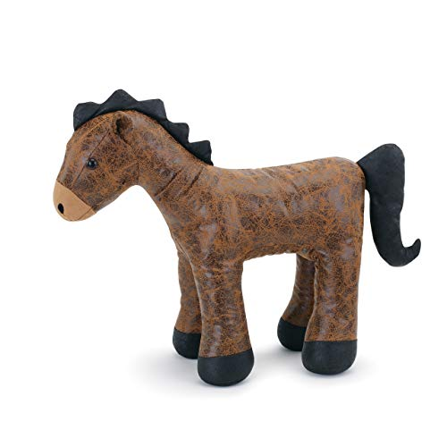 (DEMDACO Big Sky Carvers Faux Leather Horse Door Stop)