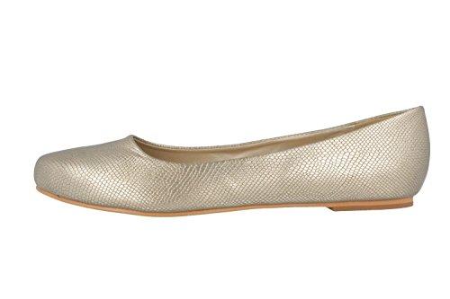 Andrés MACHADO - agujeros para mujer - Oro de zapatos en talla