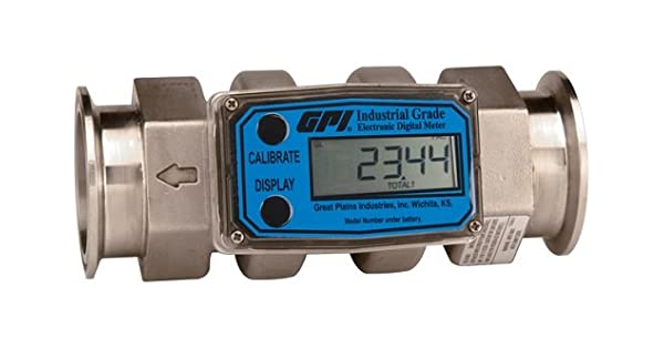GPI G2S07T19LMB G2 Series Stainless Steel Flowmeter Reads Liters//Minute Tri-Clover Fittings Vertically Mounted 09 Computer 3//4 3//4