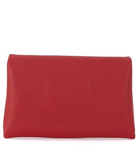 Bolso de mano Orciani en piel martillada roja