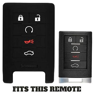 KeyGuardz Keyless Remote Car Smart Key Fob Outer Shell Cover Soft Rubber Case for Cadillac ATS CTS DTS SRX STX XTS: Automotive