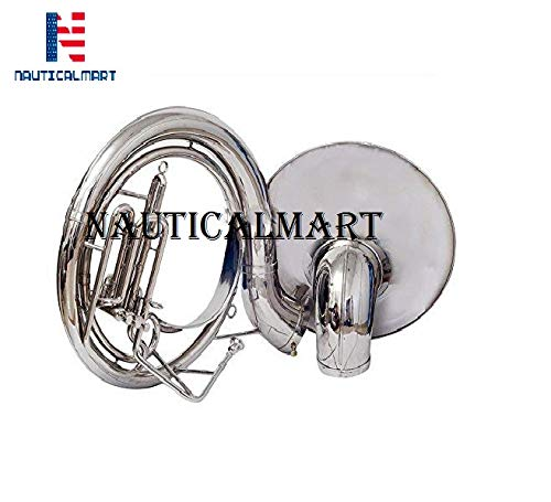 Sousaphone Bb Big Bell 25'' Nickel by NauticalMart (Image #4)