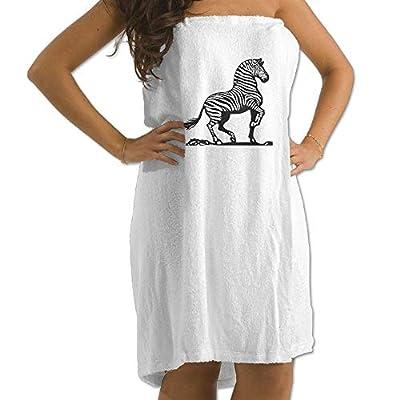 Zebra Prints Bath Towel Wrap Womens Spa Shower and Wrap Towels Swimming Shawl Bathrobe Cover Up for Ladies Girls - White