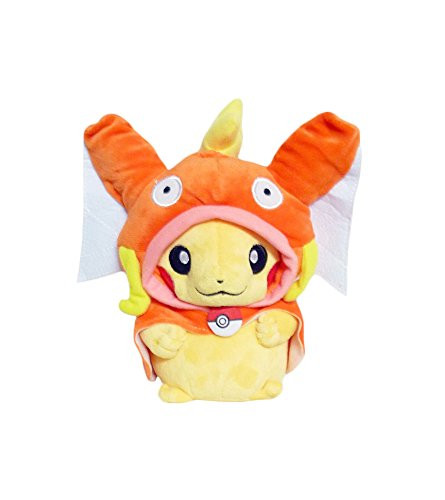 Pikachu Costume Wearing (Pokemon: 7-inch Mascot Pikachu Plush Doll -)
