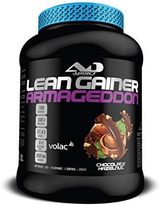 ADDICT SPORT NUTRITION AD - Gewichtszunahme - Lean Gainer Armageddon - 2 Kilo - Gichtschokoladen-Haselnuss