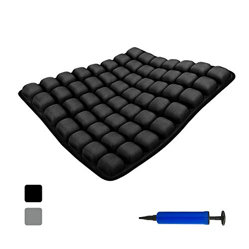 Air Inflatable Seat Cushion Tailbone Support Air-Permeable Pad, Coccyx & Sciatica Relief, for Office/Car/Wheelchair Seat 18