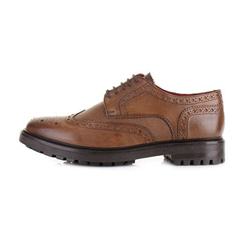 Base London - Zapatos de cordones para hombre Marrón canela