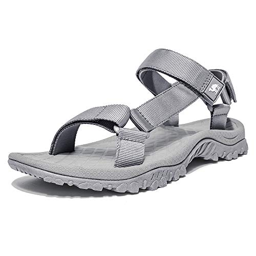 - CAMEL CROWN Sport Sandals for Men Anti-skidding Water Sandals Comfortable Athletic Sandals for Outdoor Wading Beach Grey 10 M US