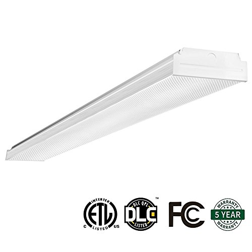 AntLux 4ft LED Garage Shop Lights, LED Wraparound Light Fixture 40W, 4800 Lumens, 4000K Neutral White, 4 Foot Integrated Low Profile Linear Flushmount Ceiling Lighting, 120W Fluorescent Replacement - Wrap Around Fluorescent Light