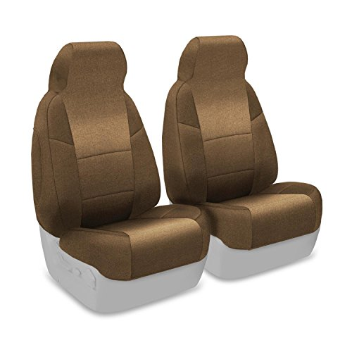 Coverking Custom Fit Front 50/50 High Back Bucket Seat Cover for Select Mazda Miata Models - Velour (Beige)