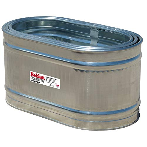 (Behlen Country 50130028K 2' x 2' x 4' Round-End Galvanized Steel Stock Tank Nested Bundle, Approximately 90 Gallon (Pack of 3 Tanks))
