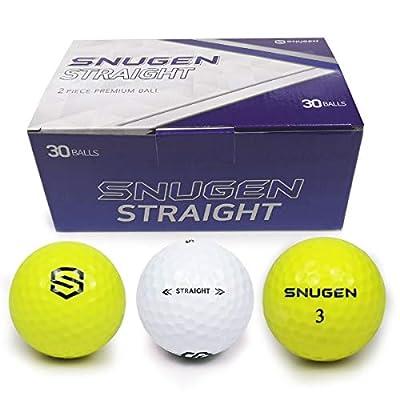 SNUGEN Distance Golf Ball, Long Distance Tour Ball, 30 Ball Pack,White & Yellow