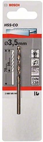 Bosch 2608585842 Foret /à m/étaux rectifi/és HSS-Co DIN 338 3 x 33 x 61 mm