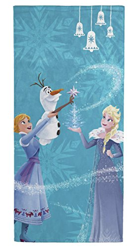 Jay Franco Disney Frozen Bells Kids Bath/Pool/Beach Towel - Featuring Anna and Elsa - Super Soft & Absorbent Fade Resistant Cotton Towel, Measures 28 inch x 58 inch (Official Disney Product)