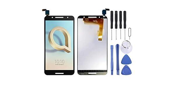 YANGJAN Pantalla LCD y Conjunto Completo de digitalizador for Alcatel A7 / 5090 / 5090Y / 5090A (Negro) (Color : Black): Amazon.es: Electrónica