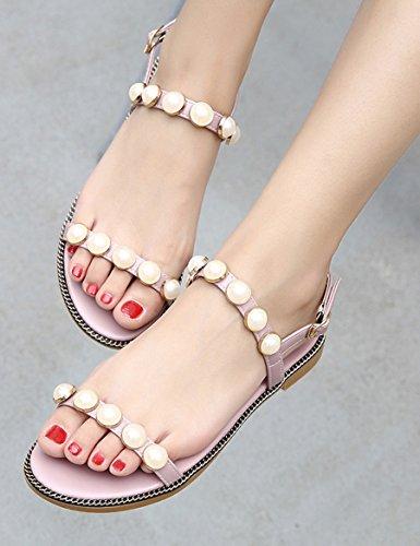 Sandali pantofole CN39 con UK6 da toed selvaggi Colore A semplici perla dimensioni XIA open studenti d'estate Donna amp;Sandali piatta 0 Sandali EU39 qznwCv1