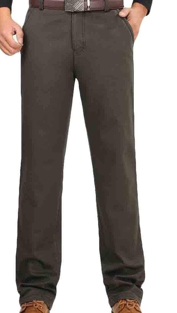Alion Mens Work Wear Flat Front Slim Hot Pants Pant Winter Casual Short Pants