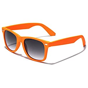 Colorful Retro Fashion Sunglasses - Smooth Matte Finish Frame - Orange