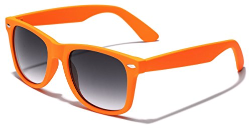 Colorful Retro Fashion Sunglasses - Smooth Matte Finish Frame - - Sunglasses Orange Cheap