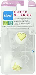MAM Start Silicone Pacifier, Colors May Vary, 2-Count