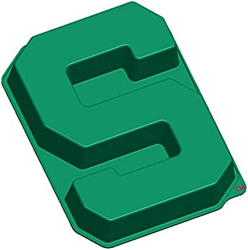 MasterPieces NCAA Michigan State Spartans, S Cake Pan with Stand, Green