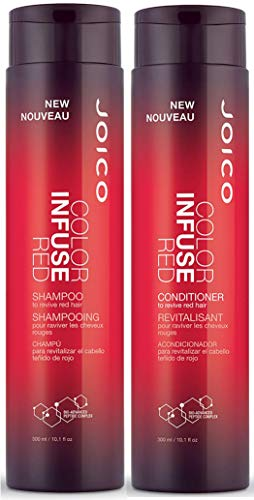 Joico Color Infuse Shampoo and Conditioner Set, Red, 10.1-Ounce