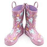 Outee Toddler Kids Rain Boots Rubber Cute Printed