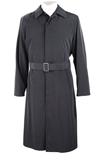 Calvin Klein Men's 7NU0000 Full Length All Year Round Raincoat with Belt - Black - 52R