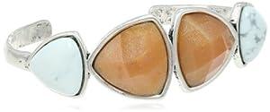 "Lucky Brand ""Pyramid & Hearts"" Druzy Stone Cuff Bracelet, 2.25"" from Lucky Brand"