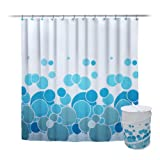 Elegant Home Fashions 14-Piece Collapsible Hamper, Shower Curtain and Hook Set, Circle Design