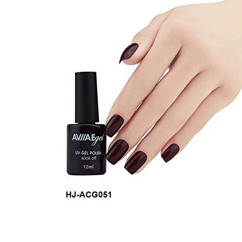 AVIIAE Pop Deep Brown as Chocolate Color Gel Nail Polish Long-Lasting Soak-off LED UV Lamp Cure Cosmetic Make Up Gel Polish 12ML
