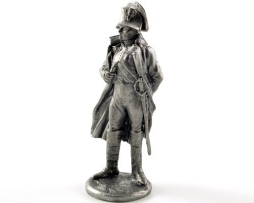 Bonaparte Collection - France. Napoleon Bonaparte, 1812 year metal sculpture. Collection 54mm (scale 1/32) miniature figurine. Tin toy soldiers