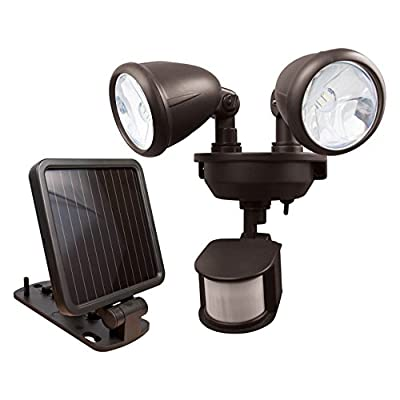 Maxsa Dual-Head Solar Spotlight