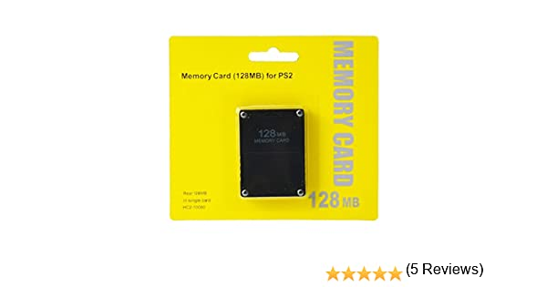 Tarjeta de memoria de 128 MB para Sony PlayStation 2 PS2 128 M, Color negro