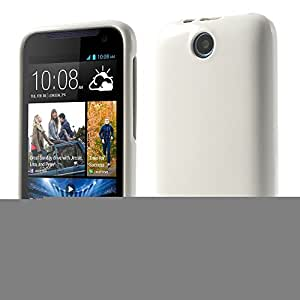 JUJEO Mercury Goospery Jelly Case Shimmering Powder TPU Shell for HTC Desire 310 - Non-Retail Packaging - White