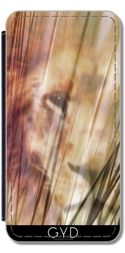 Leder Flip Case Tasche Hülle für Apple iPhone 5/5S - König Der Löwen by Digital-Art