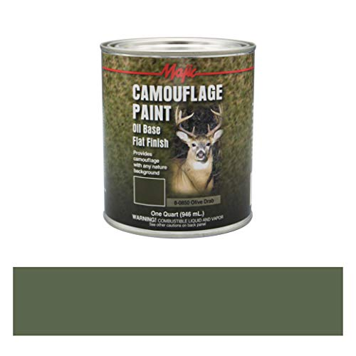 Majic Paints 8-0850-2 Camouflage Paint, 1-Quart, Olive Drab (Rust Olive)