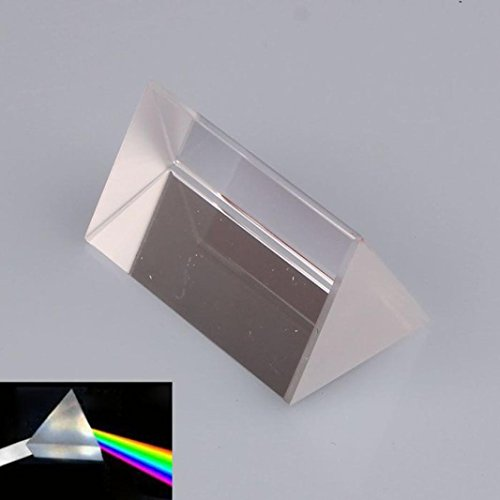 GOTD Optical Glass Triangular Prism Physics Teaching Light Spectrum Model 5cm, Educational Toys