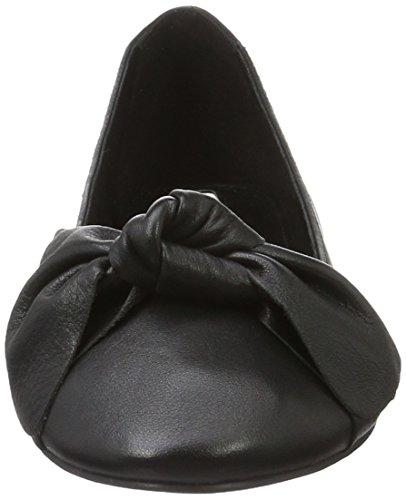 Buffalo London 216-1415-4 Sheep Leather, Bailarinas para Mujer Negro (BLACK 01)