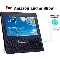 Protector de visualización de vidrio templado para Amazon 2019 Echo Show 1 / Echo Show 5 / Echo Show 8 / EchoShow 2 10 pulgadas Tablet 9H 2.5D Protector de visualización 2 Pack 2 Echo Show 1