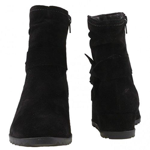 Tamaris25006 - Botines Mujer Schwarz (Black)