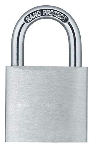 Different-Keyed Padlock, Open Shackle Type, 49/64' Shackle Height, Silver- Pack of 5 by GRAINGER APPROVED (Image #1)