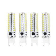 Lamsky G9 Dimmable Led Bulb,5W Daylight 6000K,AC120V,72x2835SMD,4-Pack