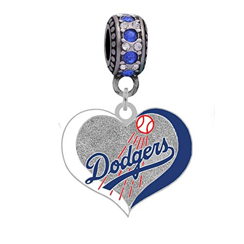 Final Touch Gifts Los Angeles Dodgers Swirl Heart Charm
