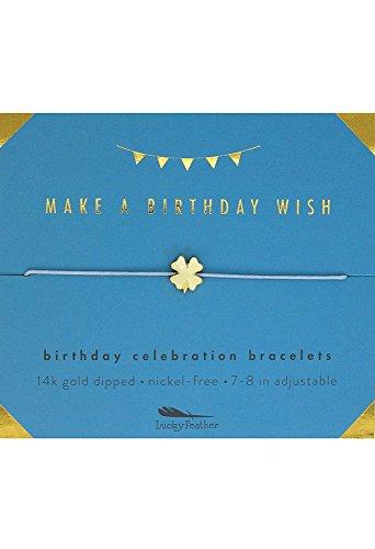 Lucky Feather Birthday Celebration Make a Birthday Wish Bracelet Wish Bracelet
