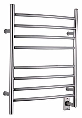 Ancona Comfort Hard Wired 8 Dry-Lined Electric Towel Warmer with 8 Bars and Chrome Finish